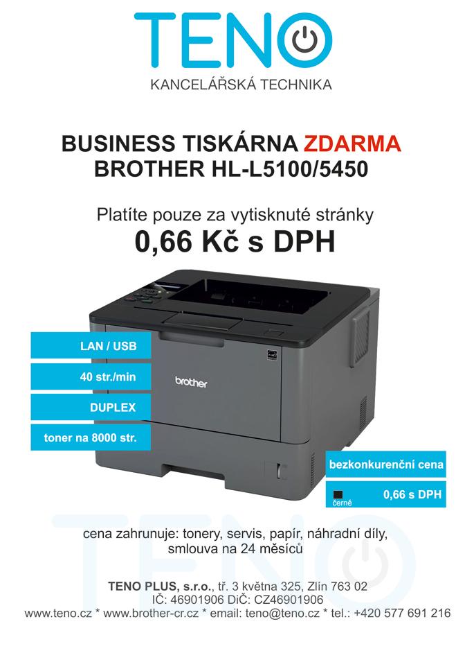 tiskárna Brother zdarma, platte jen za stránky které skutečně vytisknete